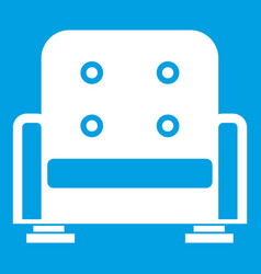 armchair icon white vector image