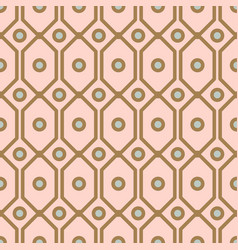 Art deco geometric pattern with net circle shapes vector