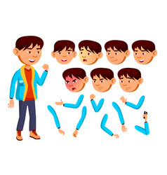 asian boy child kid teen teenager vector image