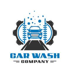 automatic car wash logo design vector image