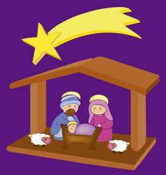 Baby Jesus in a manger 8 vector image