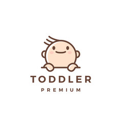 baby toddler logo icon vector image