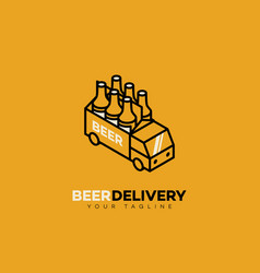 Beer delivery logo vector