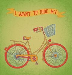 bici ride vector image