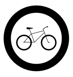 Bicycle icon black color in circle vector
