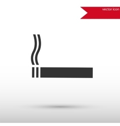 Black cigarette icon vector image