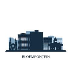 bloemfontein skyline monochrome silhouette vector image