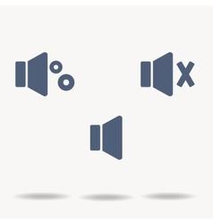 blue speaker icons flat icons on white vector image