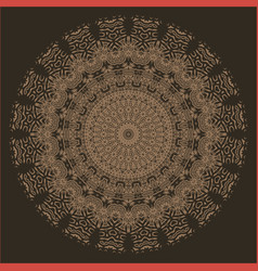 Brown oriental geometric ornament vector