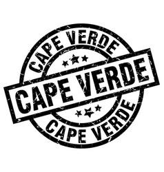 Cape verde black round grunge stamp vector