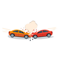 Car accident comic style vector