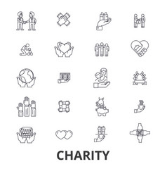 Charity donation volunteer fundraising vector