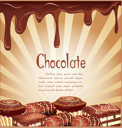 chocolate candy background vector image