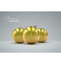 Christmas golden balls vector image