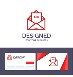 creative business card and logo template ad vector image