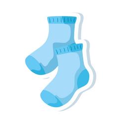 cute socks baisolated icon vector image