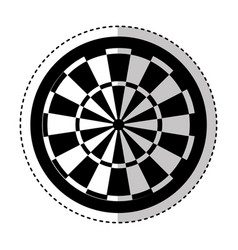 darts target isolated icon vector image