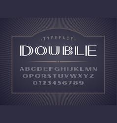 decorative bold san serif font on dark background vector image