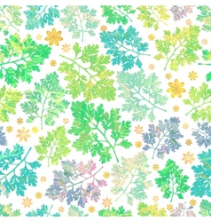 Decorative seamless spring pattern EPS 10 vector image