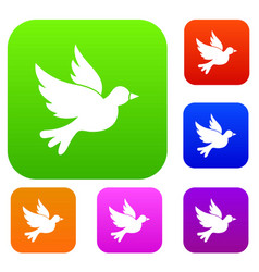 dove set collection vector image