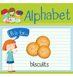 Flashcard letter B is for biscuits vector image