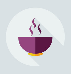Flat modern design with shadow icons steak vector