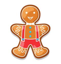 gingerbread cookies man merry vector image