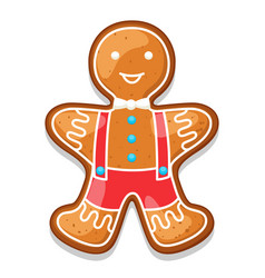 Gingerbread cookies man of merry vector