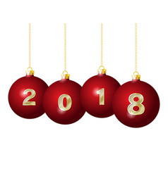 glass christmas balls 2018 vector image