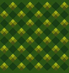 green argyle seamless pattern vector image