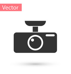 Grey car dvr icon isolated on white background vector