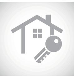 Grey house key icon vector image