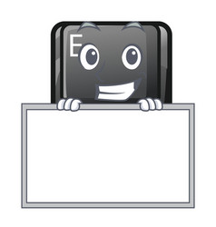 Grinning with board button e isolated with the vector