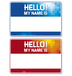 hello my name is card vector image