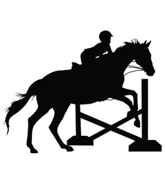 Horse Jumping Silhouette vector image