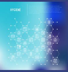 Hygiene concept in honeycombs vector