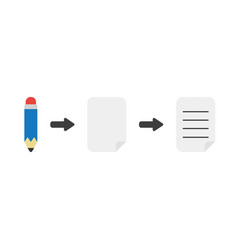 Icon concept of pencil with blank and written vector