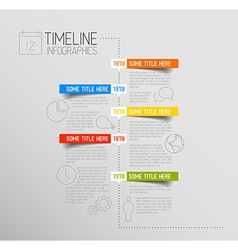 Infographic timeline report template with rounded vector