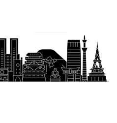 Japan tokyo architecture city skyline vector