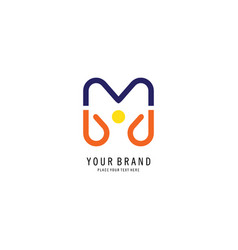 letter m people logo vector image