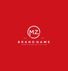 Letter mz logo design vector