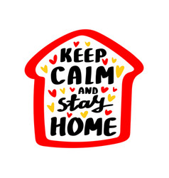 lettering stay home vector image