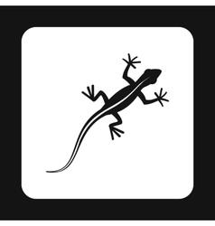 Lizard icon simple style vector