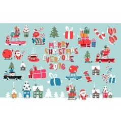 Merry Christmas 2016 Collection vector image