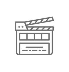 movie clapper board clapperboard line icon vector image
