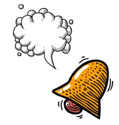 notification icon bell symbol-100 vector image
