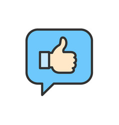 Positive feedback like thumb up in chat vector