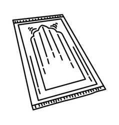 Prayer mat icon doodle hand drawn or outline icon vector