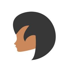 Profile woman romantic image vector