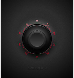 realistic black combination safe lock volume vector image